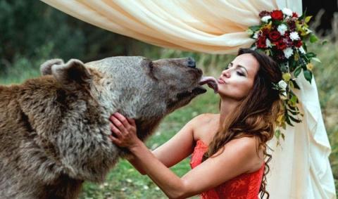 Познавательный пост для европейцев. Да, в России медведи даже на свадьбах гуляют!