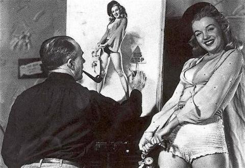 Пин-ап модель Мэрилин Монро
