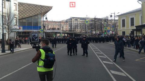 В центре Москвы задержано более 200 человек