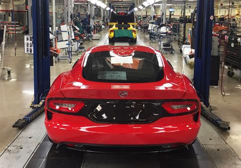 Выпуск суперкаров Dodge Vipe…