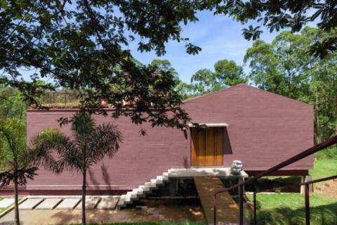 Дом на склоне в Бразилии