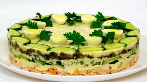 Вкусный праздничный салат «К…
