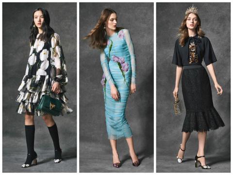 Аксессуары и женская одежда Dolce & Gabbana осень-зима 2016-2017