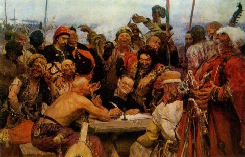 Интересная деталь знаменитой картины Ильи Репина «Запорожцы» (4 фото)