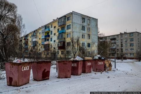 Наглядное сравнение России и Европы. Два одинаковых по населению  города.