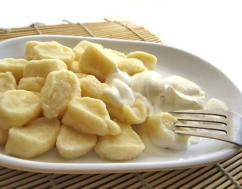 Сытные ленивые твороженые и картофельные вареники за 15 минут