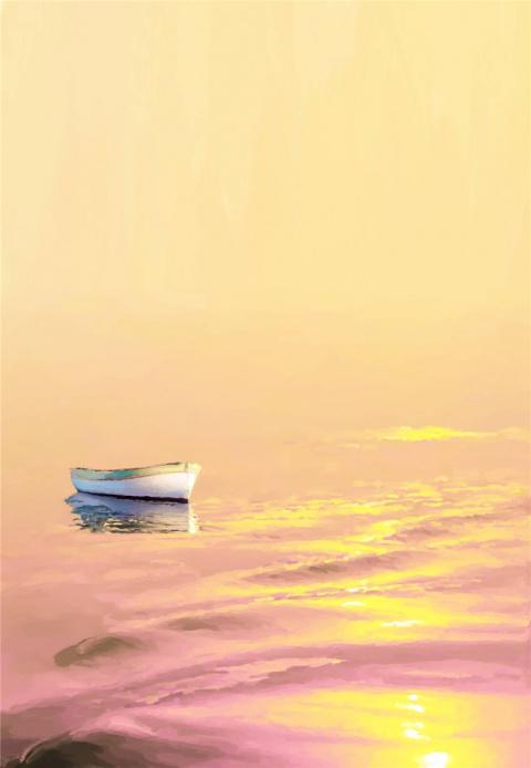 Одинокая лодка моя... Художник Jordi Feliu
