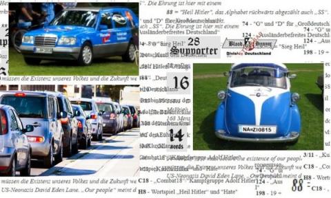 Немецы, видят скрытые коды нацистов на автомобильных номерах.