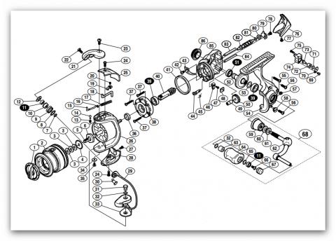 Схемы катушек Shimano