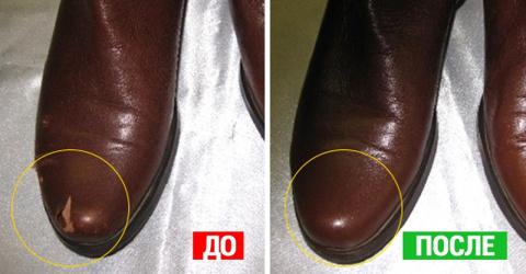 Как убрать царапины и потёртости с кожаных изделий