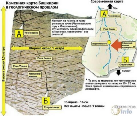Карта возрастом 120 миллионов лет