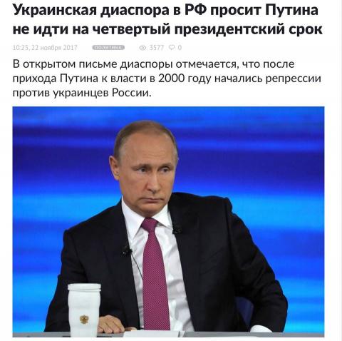 Украинцы России против Путина
