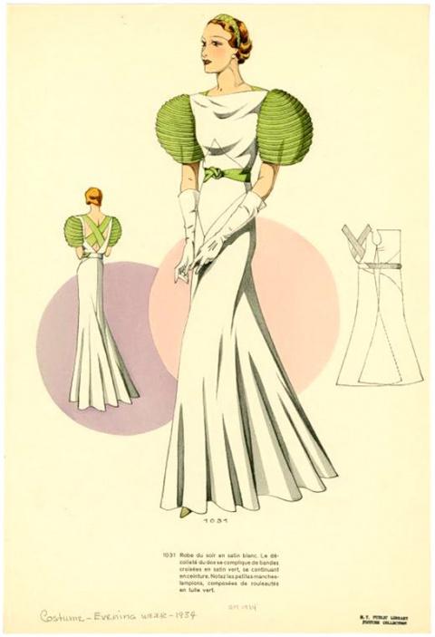 Женская мода 1934 года - часть первая