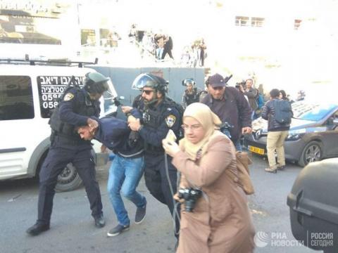 Палестинцы завершили протест в центре Иерусалима