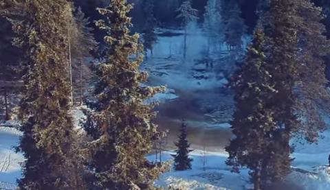 Замерзшие водопады Ахинкоски