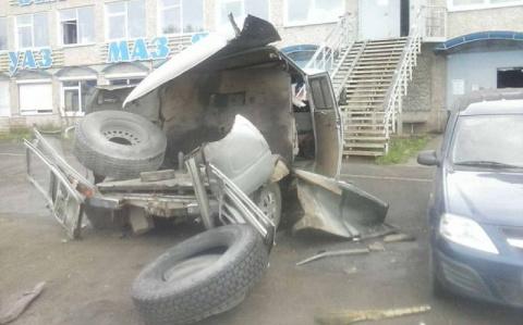 Последствия взрыва колеса