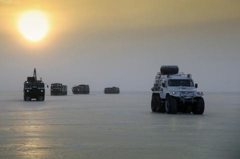 Испытания новых образцов военной техники в условиях Арктики
