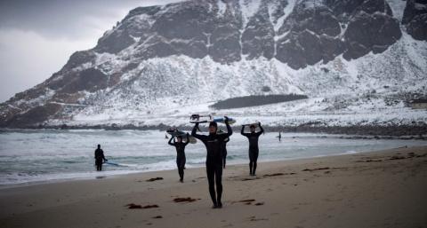 Самая северная и суровая школа серфинга в мире