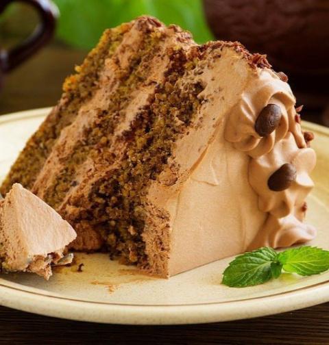 Кофейно-ореховый торт (без муки)