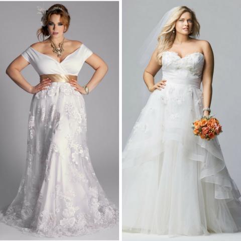 6 фасонов свадебных платьев, которые идеально подойдут девушкам с пышными формами