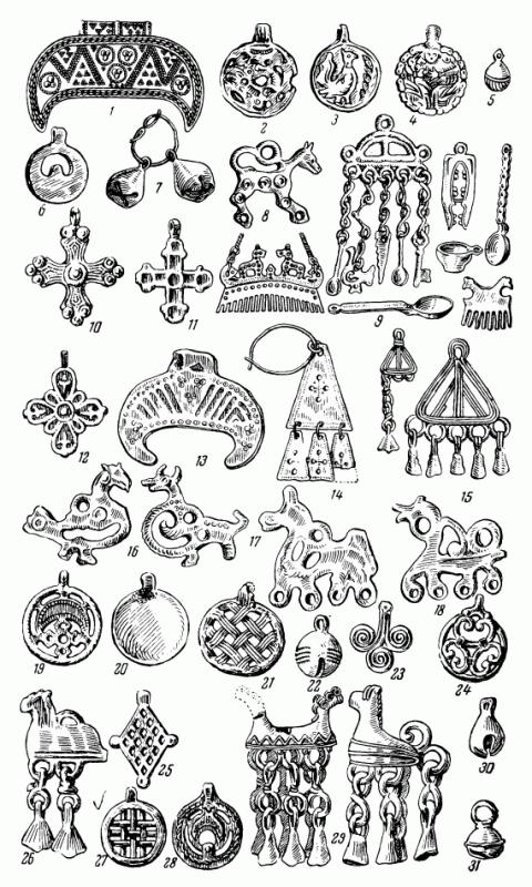 Древнерусские амулеты-привески и их датировка
