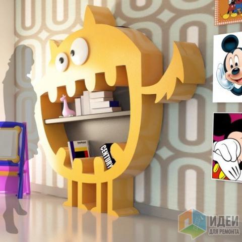 Идеи хранения детских книг