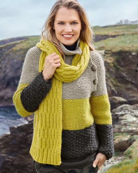 Трехцветный свитер и двухсто…