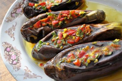 Остренькие маринованные баклажаны по-египетски! Умопомрачительная закуска!