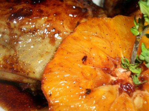 Курица в Мандариновой Карамели