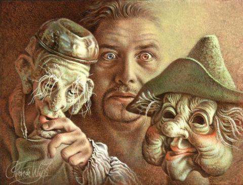 Вся жизнь – игра... Голландский художник Poen De Wijs.