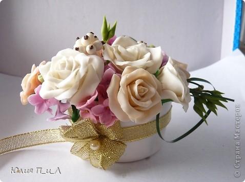 Розы из кукурузной муки