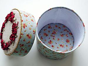 Делаем красивую шкатулку с вышивкой