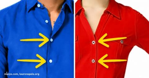 Вы даже не догадывались, почему пуговицы на мужских и женских рубашках на разных сторонах!