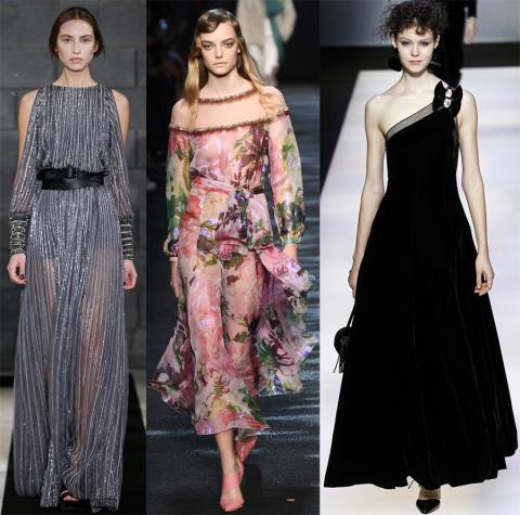 Модные зимние платья из коллекций осенне-зимнего сезона 2016-2017