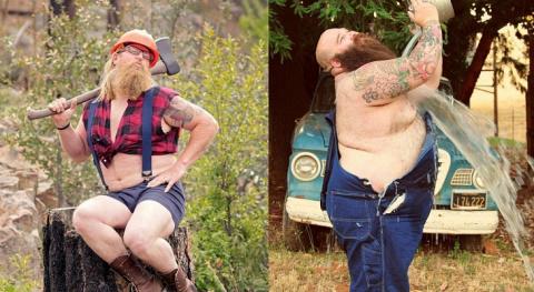 Борода, немного лишнего веса и тонны сексуальности: брутальные парни в стиле пин-ап