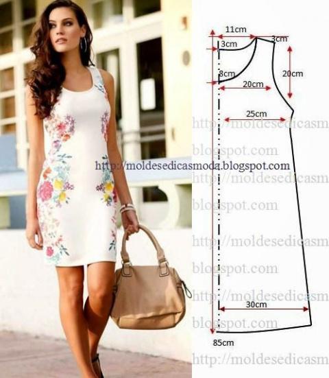 Простые выкройки летних платьев 5