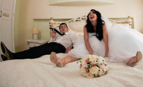 Муж после свадьбы: — У меня …