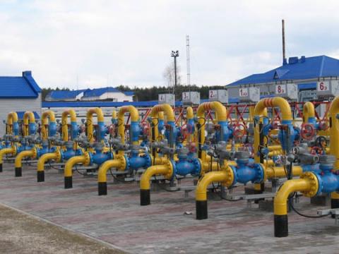 Запасы газа вПГХ Украины за…