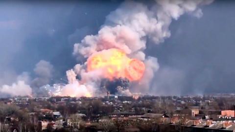 Пожар в Балоклее на складе боеприпасов,это диверсия или сокрытие хищений?