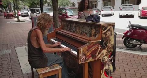 Пальцы этого бездомного пиан…