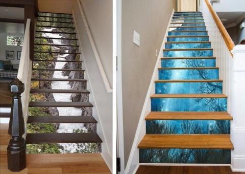 Крутое дизайнерское решение для лестницы