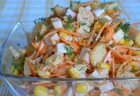 Питательный салат «Карусель»…