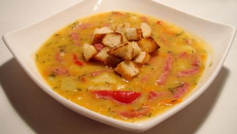 Суп гороховый с копченой кол…