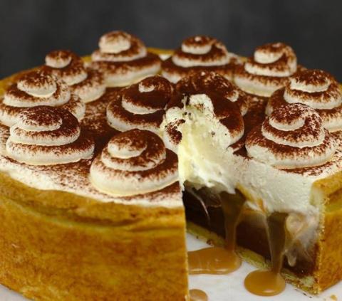 Шоколадно-карамельный пирог …