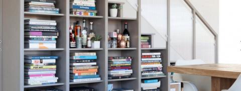 Разнообразие систем хранения для книг и мелочей