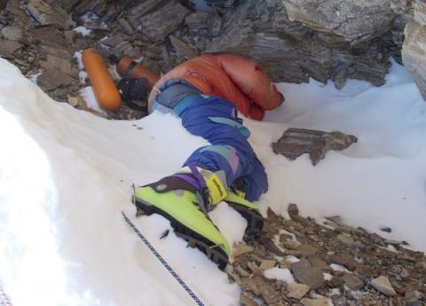 """Почему высоту 8500 метров на Эвересте называют """"Зеленые ботинки"""""""