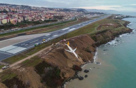 В Турции с посадочной полосы…