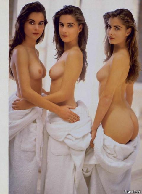 """Сексапильные тройняшки известные под общим именем """"Трио из Рио""""в в фотосесии для Playboy (1993). (18+)"""