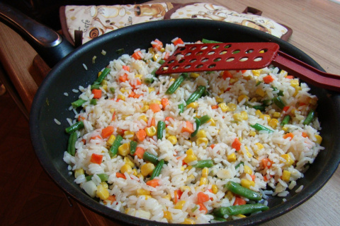 ПОХУДЕЙКИНЫ РЕЦЕПТЫ. Рис с овощами по‑гавайски