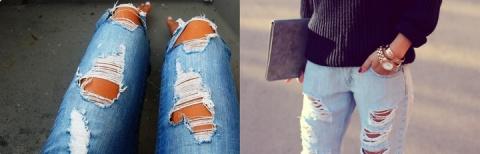 Как своими руками сделать рваные джинсы?